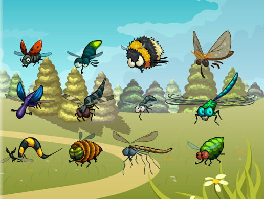 Unity Asset Funny Flying Bugs free download