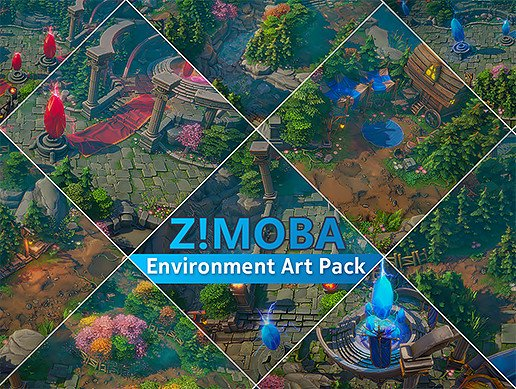 Unity Asset Z ! MOBA Environment Art Pack free download