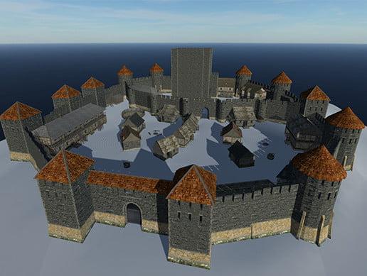 Unity Asset Medieval Castle free download