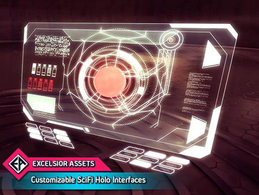 Unity Asset Customizable SciFi Holo Interface free download