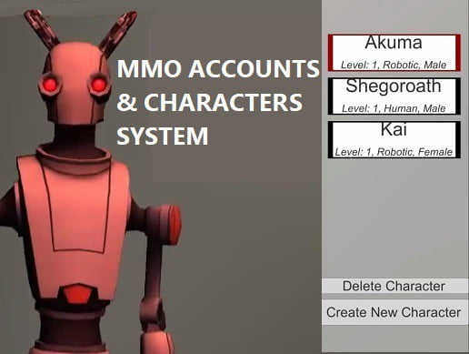 Unity Asset MMO Accounts Characters System free download