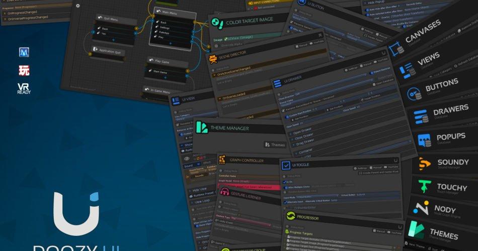 Unity Asset DoozyUI Complete UI Management System free download