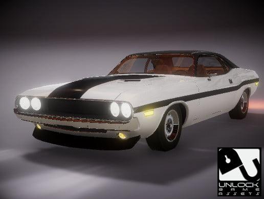 Unity Asset Unlock classic car 04 free download