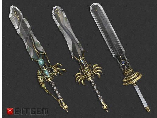 Unity Asset Angelic Sword Set free download