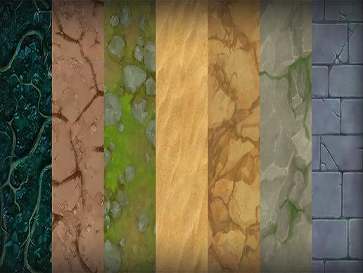 Unity Asset Cartoon Terrain Textures free download