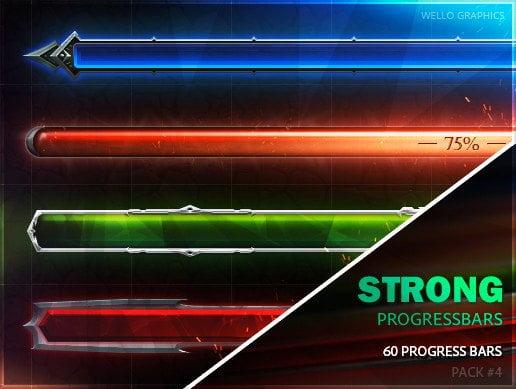 Unity Asset 50 Progress Bars Pack 4 DANGEROUS PROGRESS free download