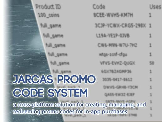 Unity Asset Jarcas Promo Code System free download