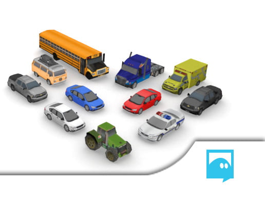 Unity Asset Mobile Low-Res Car Pack free download