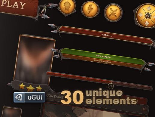 Unity Asset Tribal UI for UGUI free download