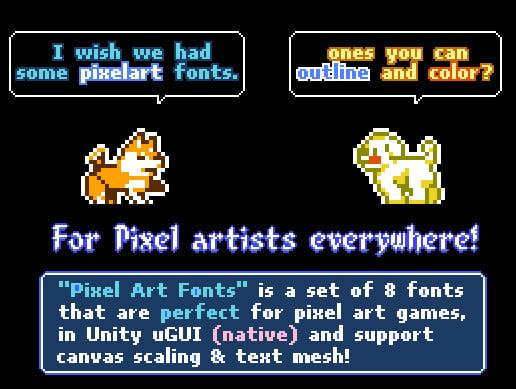 Unity Asset Pixel Art Fonts free download