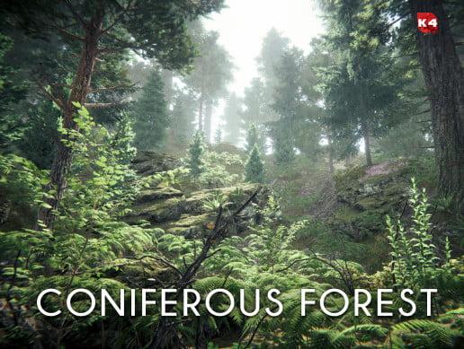Unity Asset Coniferous forest free download