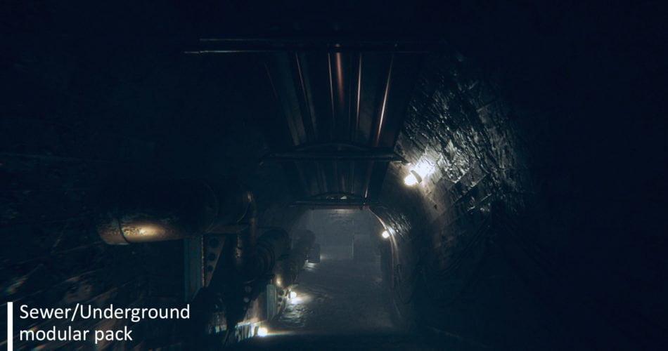 Unity Asset Sewer-Underground Modular Pack free download