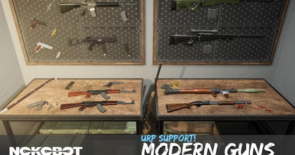 Unity Asset Modern Guns Pack free download