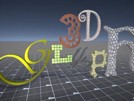 Unity Asset Glyph 3D free download