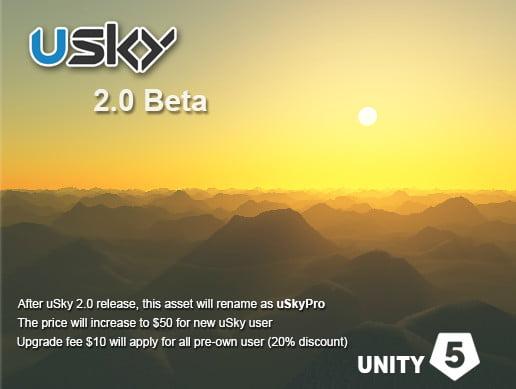 Unity Asset uSky 20 Beta uSkyPro free download