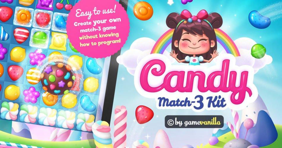Unity Asset Candy Match 3 Kit free download