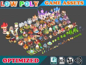 Unity Asset Low poly Cartoon Kingdom KIT free download
