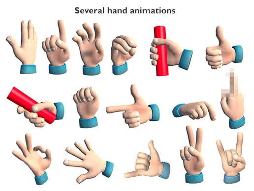 Unity Asset VR Cartoon Hand free download