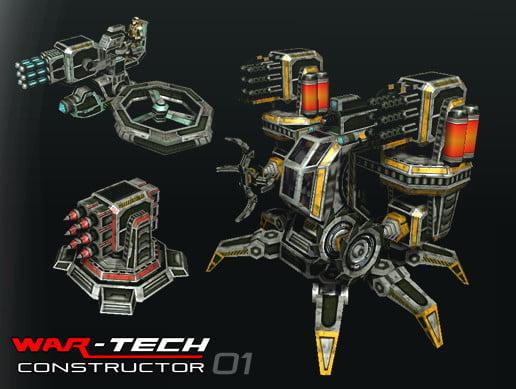 Unity Asset Modular Multilevel Turrets-Mechs-Robots free download