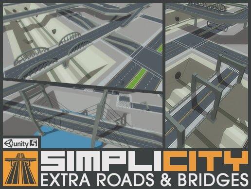 Unity Asset SimpliCity Extra Roads&Bridges free download