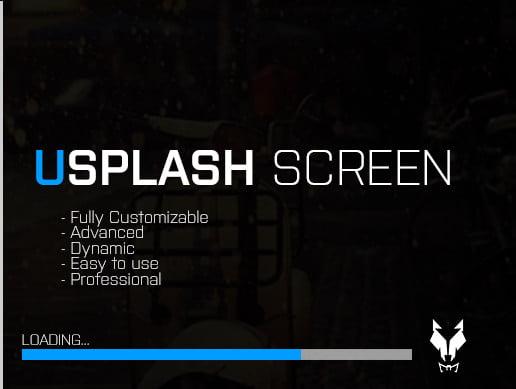 Unity Asset USplash Screen free download