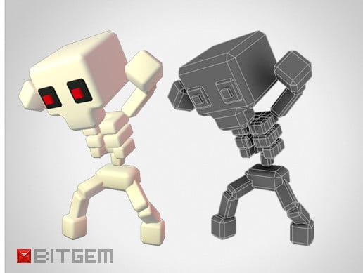 Unity Asset Generic Skeleton - Smashy Craft Series free download