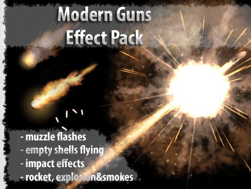 Unity Asset Modern Gun Effect Pack free download