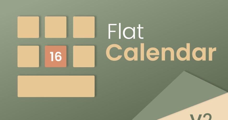 Unity Asset Flat Calendar free download