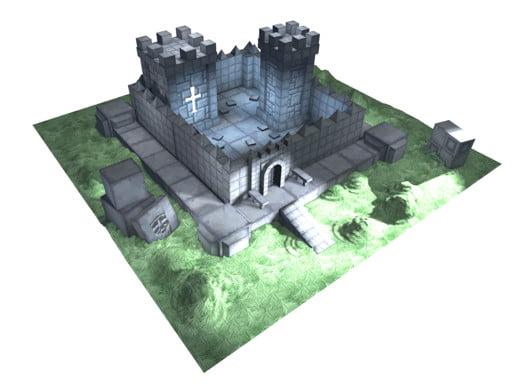 Unity Asset Cartoon Castle Building Kit free download