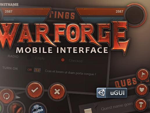 Unity Asset Warforge Mobile UI free download