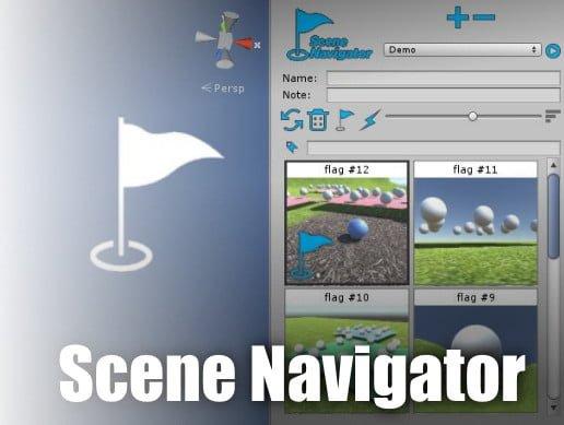Unity Asset Scene Navigator - flag markers utility free download