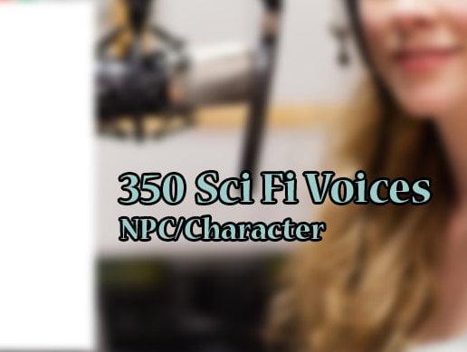 Unity Asset 350 Sci-fi NPC Voices free download