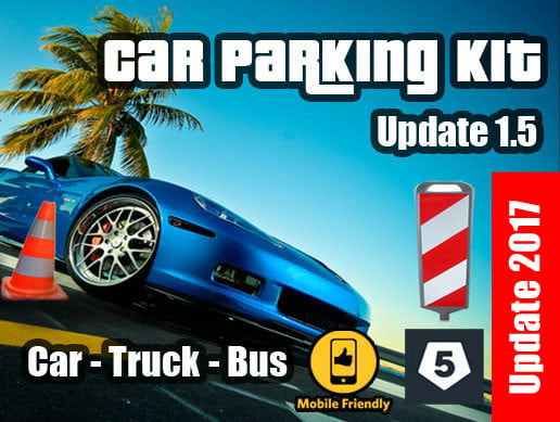 Unity Asset Car Parking Kit 3 in 1 free download
