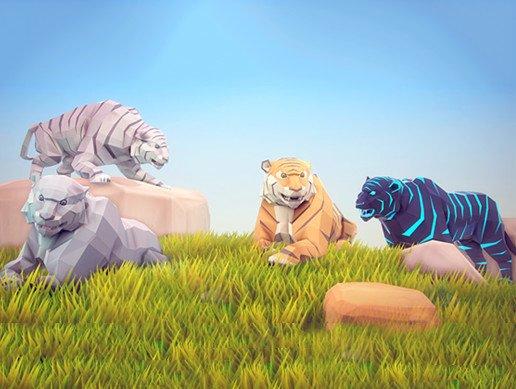 Poly Art: Tiger