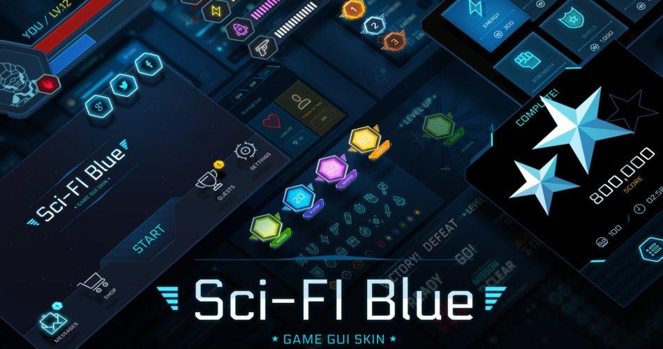 GUI Kit - SciFi Blue