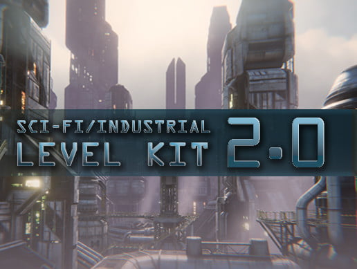 Unity Asset SciFi Industrial Level Kit 2.0. free download