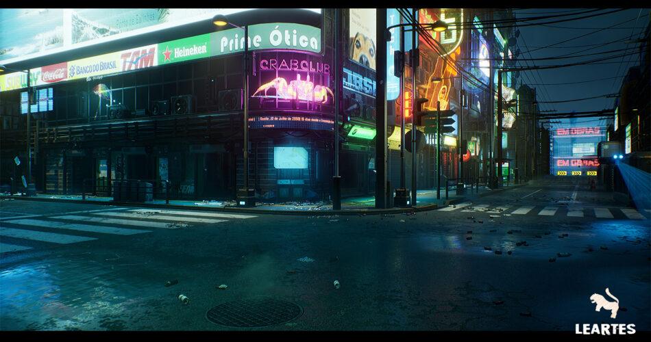 Cyberpunk City / Recife Environment