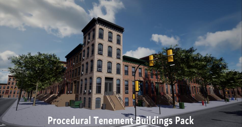Procedural Tenement Buildings Pack