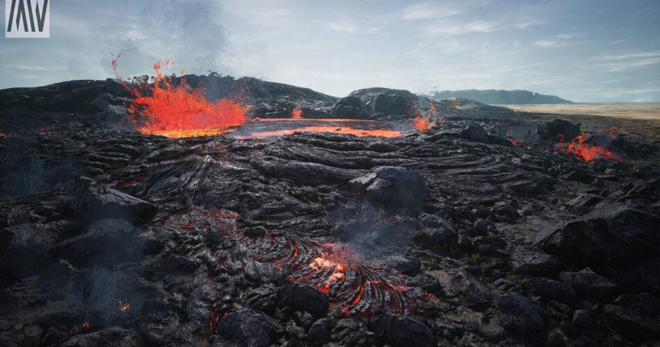 Lava Desert Landscape